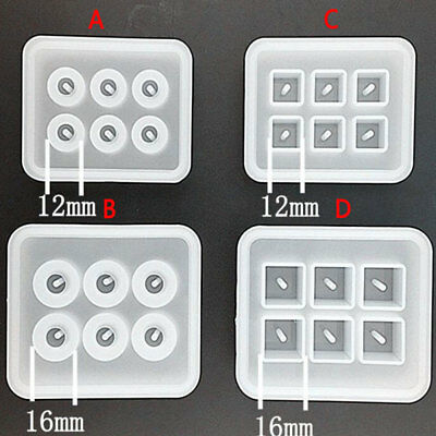 Silicone Gem Beads Moulds Mold Resin Jewellery Making Pendant Jewelry Crafts DIY