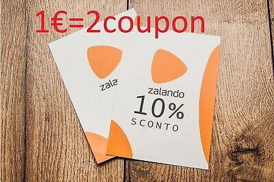 2 ZALANDO COUPON SCONTO del 10% IMMEDIATO buono voucher coupon ACCETTO PROPOSTE
