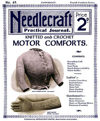 Needlecraft Practical Journal #69 c.1908 Vintage Fashion Knitting Patterns