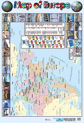 Map of Europe Poster /   Educational / Geographical / Maps