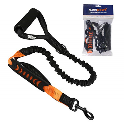 Ezee Paws Strong Dog Lead Anti Pull Shock Absorbing Bungee Leash with Soft