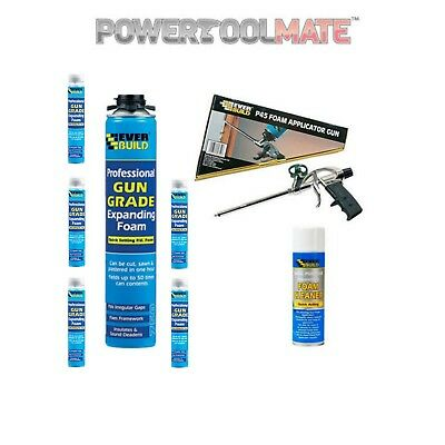 Everbuild Expanding Foam Kit - Applicator, Gun Foam x 6 and Cleaner