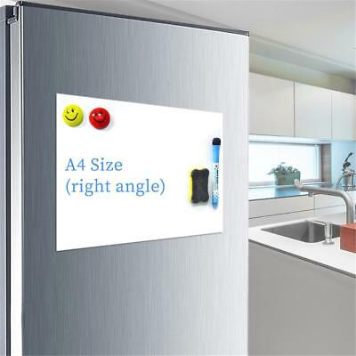 A4 Reminder Fridge Magnetic Whiteboard Family Message Board Office Notes Memo