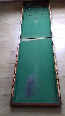 VTG Antique Traditional Old English Pub Folding Bagatelle Billiards Table Arches