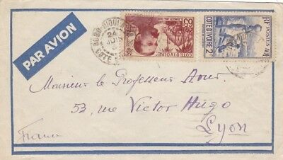 IVORY COAST (M807) 1938   cover st. air mail to FRANCE