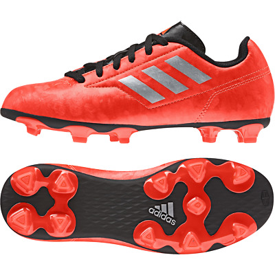 adidas Boys Football Boots Black White Red Girls Junior FG Studs Size 11-5 NEW