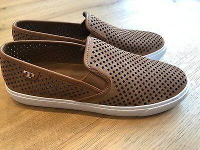 84ceca63a48b NWB TORY BURCH Jesse Perforated Sneaker Size 8 Royal Tan Suede ...
