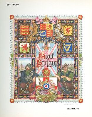 1947, Arthur Szyk Title Page, Lithograph, Visual History Of Great Britain!