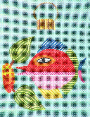 HP Needlepoint 18ct LEIGH Fish Ornament-HR15