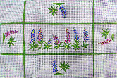 HP Needlepoint 18ct Floral Brick Cover-KH6