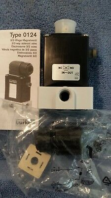 BURKERT Solenoid Valve  type 0124  New includes 2508