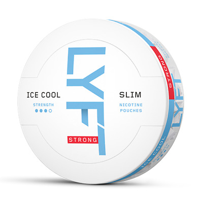 Snus from Sweden! Epok LYFT Ice Cool Strong Slim All White Port 1 can!