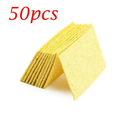 50pcs High Temperature Resistant Soldering Iron Solder Tip Cleaning Sponge