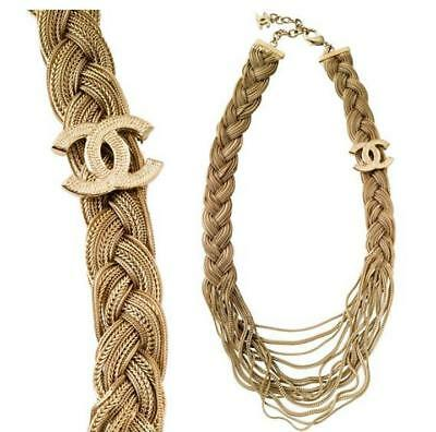 SALE CHANEL 07P Runway Braided Necklace Brand New