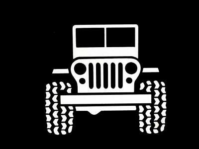 jeep yj wrangler mudding off road trail window sticker vinyl decal