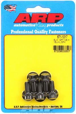 ARP 671-1017 Chromoly Bolts 12pt Black Oxide 8mm x 1.25 RH Thread 16mm Long 5 Pk