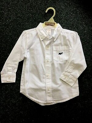 GYMBOREE Nice Bright White Button Down Dress Shirt 2t