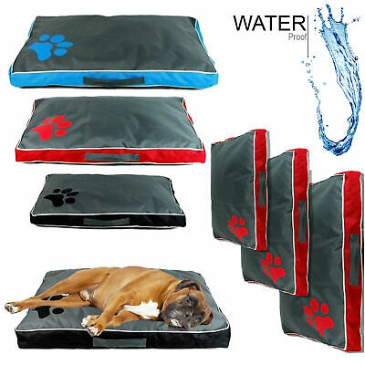 Deluxe Pet Dog Mat Bed Soft Cushion Mattress Luxury Pillow Warm Washable Cover
