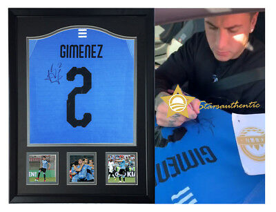 7ef9e6d9e Jose Gimenez hand signed autograph jersey with starsauthentic coa proof  Uruguay