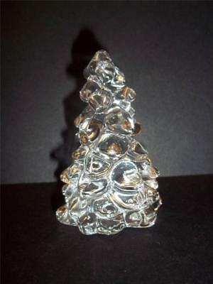 """Mosser Glass CRYSTAL CLEAR 2.75"""" MINI CHRISTMAS TREE Holiday Decoration NEW!"""