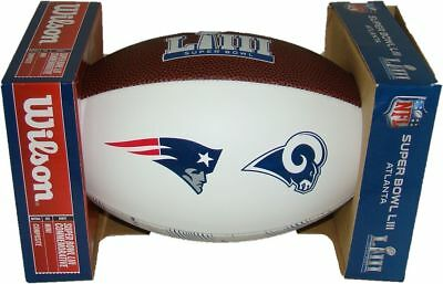 Super Bowl 53 LIII Official White Panel Dueling Mini Football Rams vs. Patriots