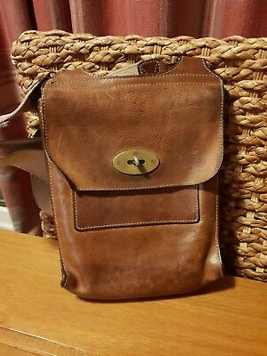 77e7a50e29 MULBERRY ANTONY CROSSBODY Messenger Bag In Grained Chocolate Leather ...