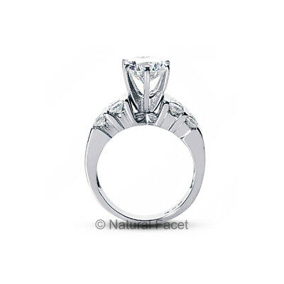 1.71ct tw I/SI1/Ideal Round AGI Certify Diamonds White Gold Wide Band Ring 7.2mm