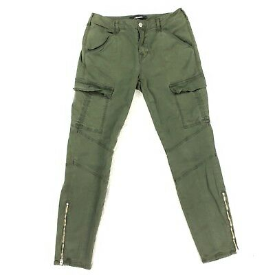 da44bb33a0e4f J BRAND Houlihan Mid Rise Cargo Jeans in Distressed Caledon SIZE 29x27  Ankle Zip
