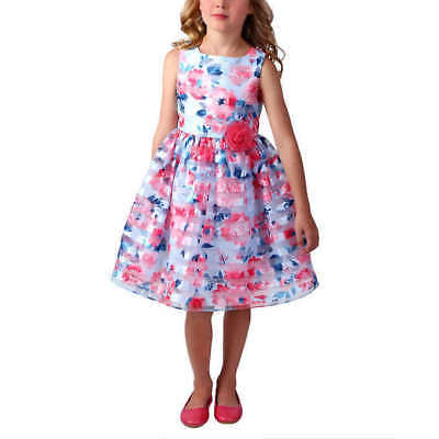 02b0847e8d3 Jona Michelle Girls  Easter Dress - BLUE FLORAL (Select Size)   FAST  SHIPPING