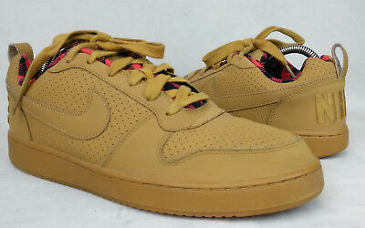 best service bc5b1 0052a Nike Court Borough Low Premium Size 9.5 US Mens Wheat Basketball Athletic  Shoes