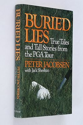Buried Lies by Peter Jacobsen - SIGNED 1st ed -  Golf, PGA Tour