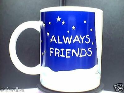 Always Friends Baby Bear cubs Coca Cola COFFEE MUG 1996 Blue & White