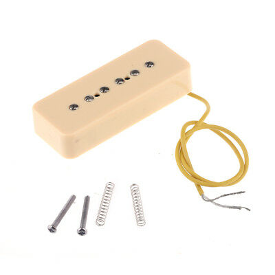 Musiclily P90 Cream Plastic Soapbar Cover 50mm Guitar Single Coil Neck Pickup
