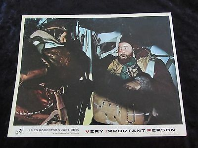 VERY IMPORTANT PERSON lobby card #3 JAMES ROBERTSON JUSTICE