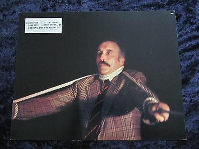 NOTHING BUT THE NIGHT lobby card #3 CHRISTOPHER LEE  (1973)