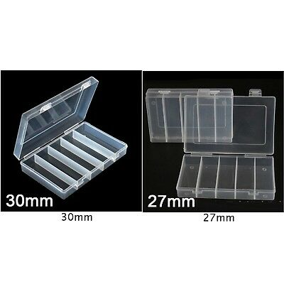 100X Clear Round Coin Cases Capsules Container Holder Storage Box 2019 New