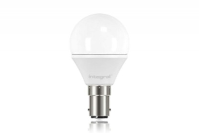 Integral LED 3.1w Golf Ball Mini Globe Light Bulb 2700K SBC B15 Small Bayonet Fr