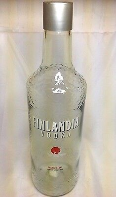 "Jumbo FINLANDIA VODKA Huge Glass BOTTLE Liquor 20"" Large Barware Display"