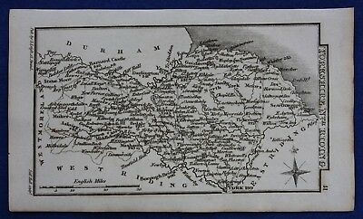 Original antique miniature county map NORTH RIDING OF YORKSHIRE, Leigh, 1820-31