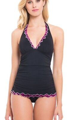 fd1f0cc5c648f Profile Gottex Size 6 Indian Sunset Halter Tankini & Mid-Rise Brief  Swimsuit NWT