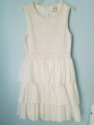 eed13c2b244 pre owned KC parker by hartstring girls dress size 10 white with ruffels