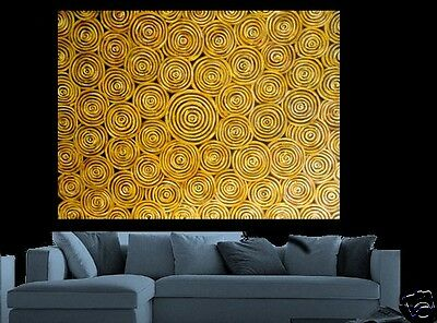 Art Painting original By Jane Huge Aboriginal style Dreampools COA abstract