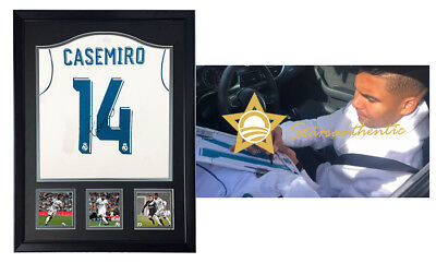 573401332 Casemiro hand signed autograph jersey shirt with starsauthentic coa REAL  MADRID