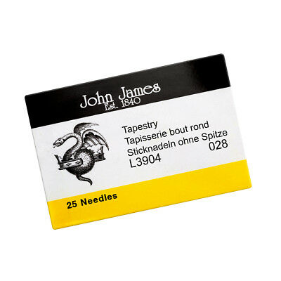 John James Size 28 Tapestry Beading Needles 32.5mm PK25 (R81/9)