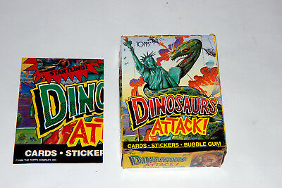 Dinosaurs Attack 48 Ct 1988 Topps Trading Cards Full Box And Promo Poster 2