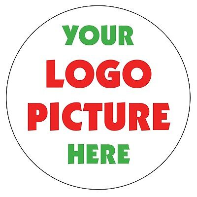 YOUR LOGO PICTURE Printed Custom Round Personalised Stickers Labels Promotion