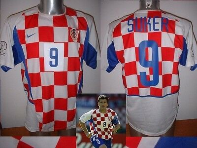 Croatia SUKER Nike Shirt Jersey Football Soccer Adult XL Trikot Arsenal Top 2002