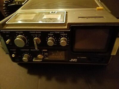 Vintage JVC Radio / TV Model 3050 with Power Adaptor and Cord (working)