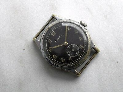 Early Helvetia German Wehrmacht Military watch WWII 1930-40`s dh