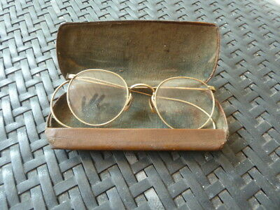 Antique Art Craft Ful Vue 1/10 12K Gold Filled Wire Spectacle Eye Glasses w/case